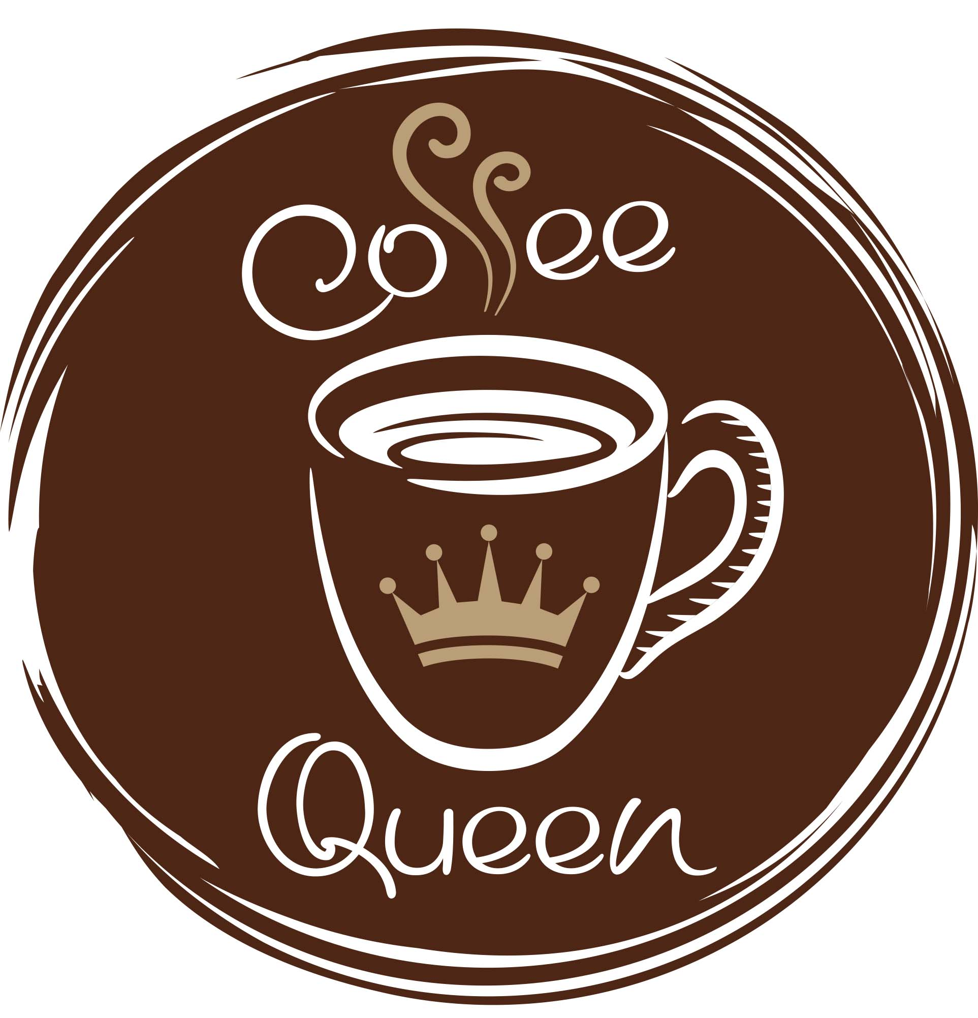 Coffe Queen Brown logo