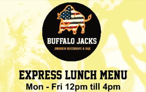 Buffalo Jacks Restaurant Liverpool Express Lunch Menu