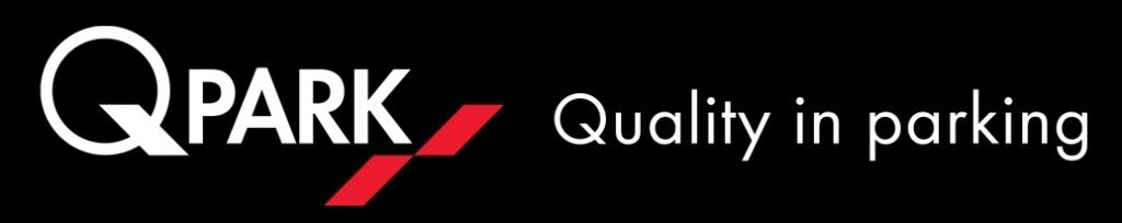 Q Park Logo and Tagline black background