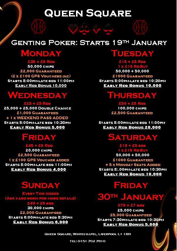 genting reading poker schedule